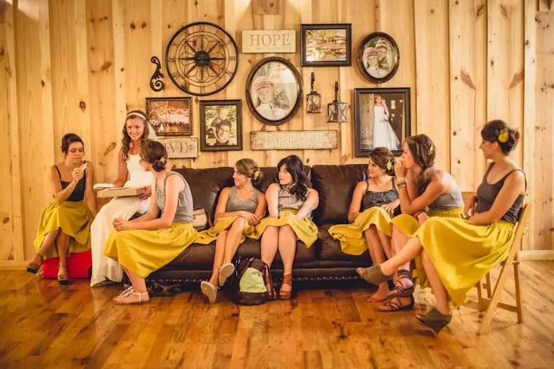 Bridesmaid Skirts in Mustard Yellow