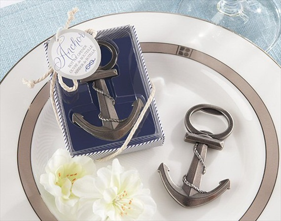 nautical anchor bottle opener favor - Are Wedding Favors Necessary?