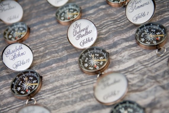 nautical wedding favors - compasses