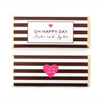 "striped ""oh happy day"" candy wrapper"