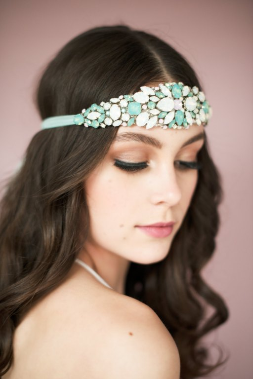 crystal headband | Bridal Headband With Veil via http://emmalinebride.com/bride/bridal-headband-with-veil/