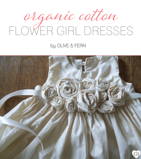 Organic Cotton Flower Girl Dresses