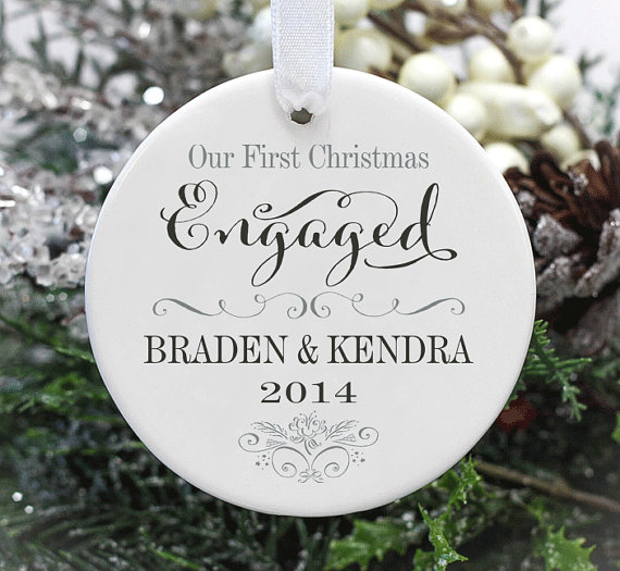 50 best first christmas engaged  married ornaments on etsy