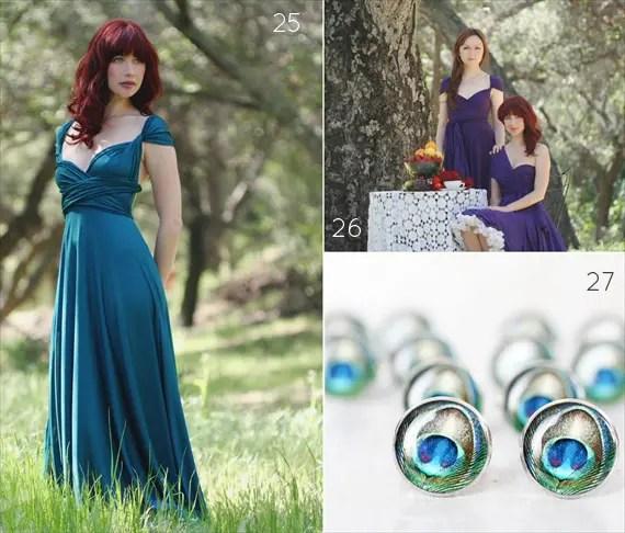 Peacock Bridesmaid Dress Ideas