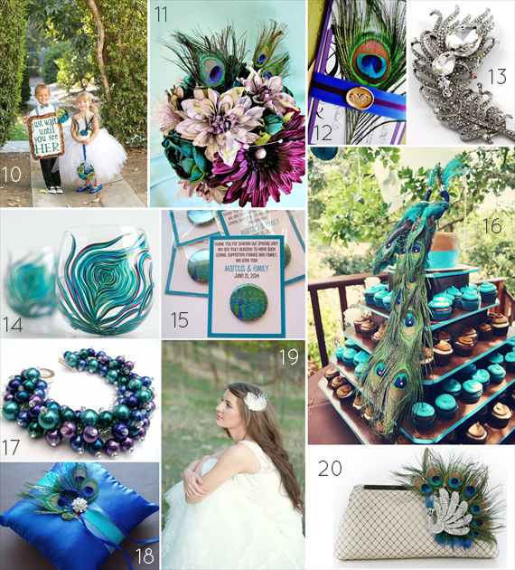 Peacock Wedding Ideas  Wedding Themes  Emmaline Bride