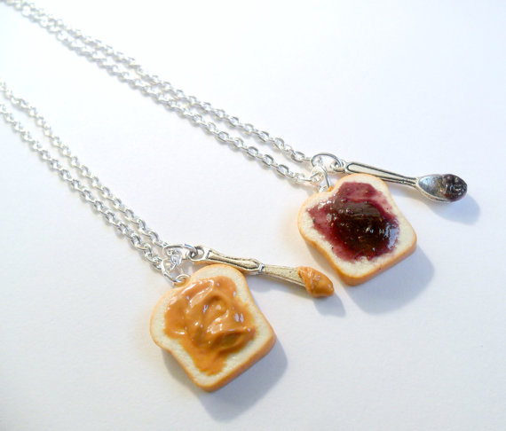 peanut butter and jelly necklaces best friends