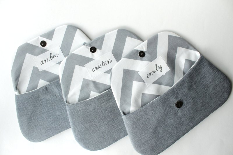 personalized bridesmaid clutches | bridesmaid gift ideas http://emmalinebride.com/gifts/bridesmaid-gift-ideas/