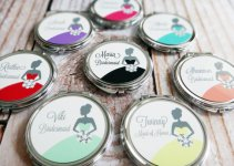 personalized bridesmaid mirror compacts