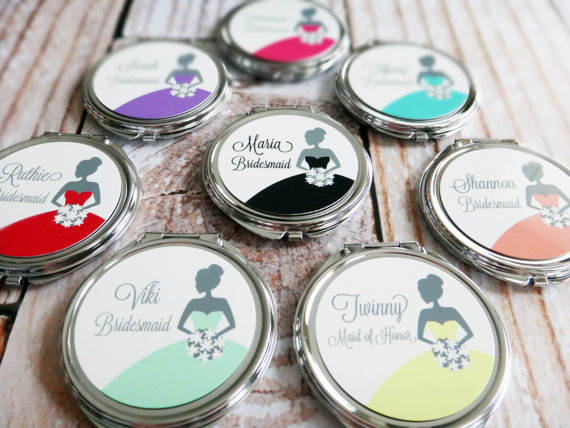Bridesmaid Mirror Compacts by Spotlight Mirrors