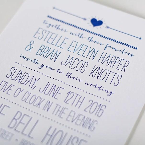 poster letterpress invitation