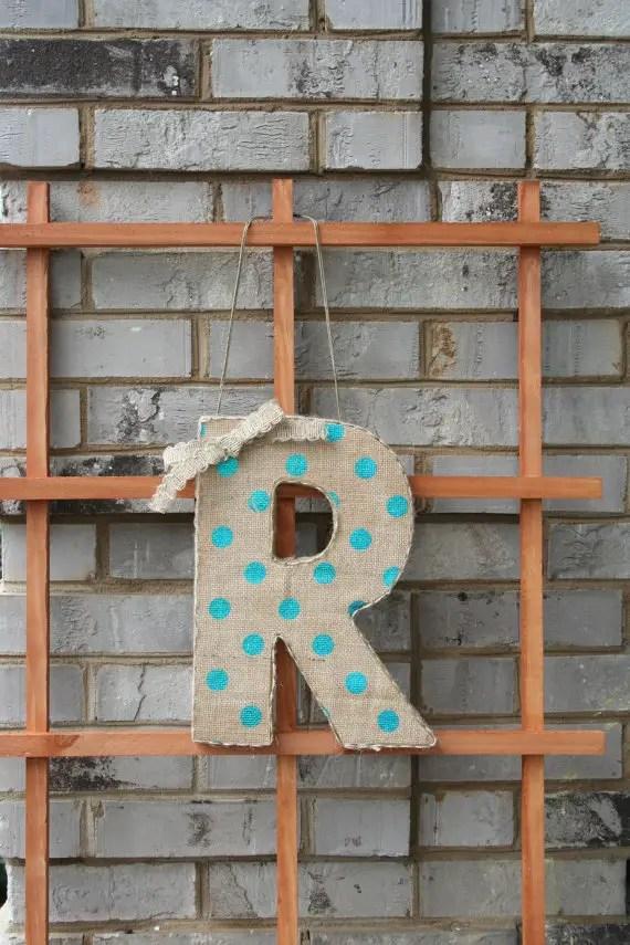 polka dot wedding monogram letter   via polka dot wedding ideas http://emmalinebride.com/themes/polka-dot-wedding-ideas-handmade/