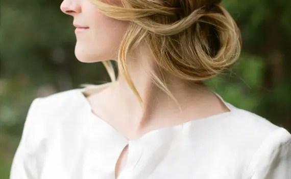 ponytail flip updo side