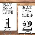 printable table numbers wedding