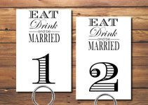 printable table numbers wedding