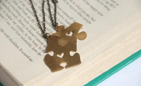 puzzle piece best friends necklaces