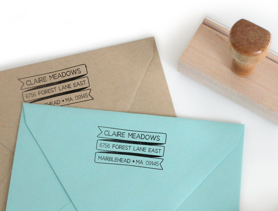 return address stamp banner design