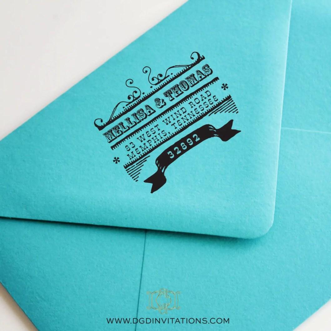 Custom Address Stamp Weddings | by Diva Gone Domestic | http://emmalinebride.com/2015-giveaway/custom-address-stamp-weddings/