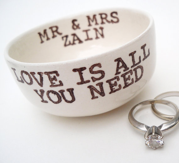 ring bearer bowl - ring bearer pillow ideas