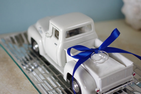 Truck Ring Bearer Pillow
