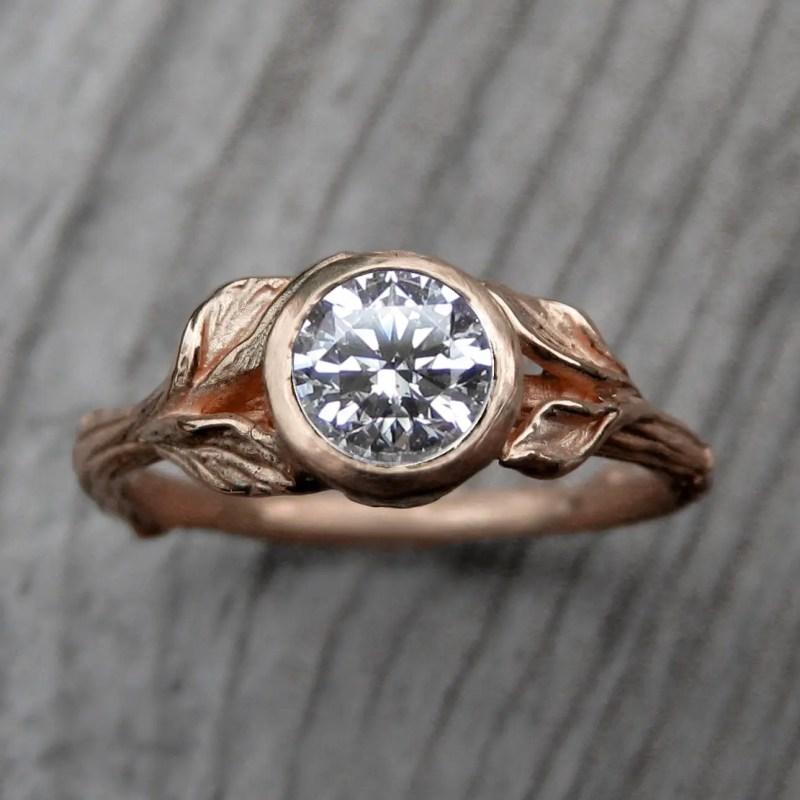 rose gold engagement ring by kristin coffin | Rose Gold Wedding Ideas via http://emmalinebride.com/planning/rose-gold-wedding-ideas/