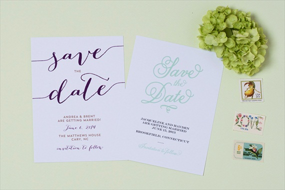 Whimsical - Spring Save the Dates (by Crafty Pie Press)