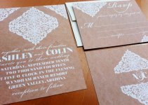 rustic kraft wedding invitations