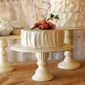rustic pedestal wedding cake stand