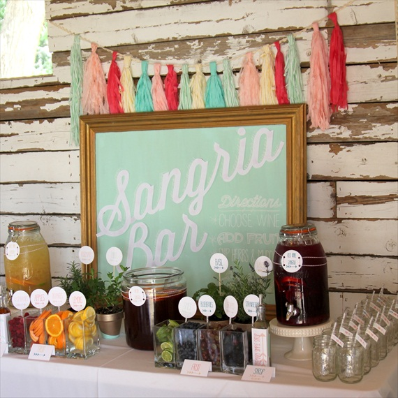 Wedding Drink Station Ideas - sangria bar