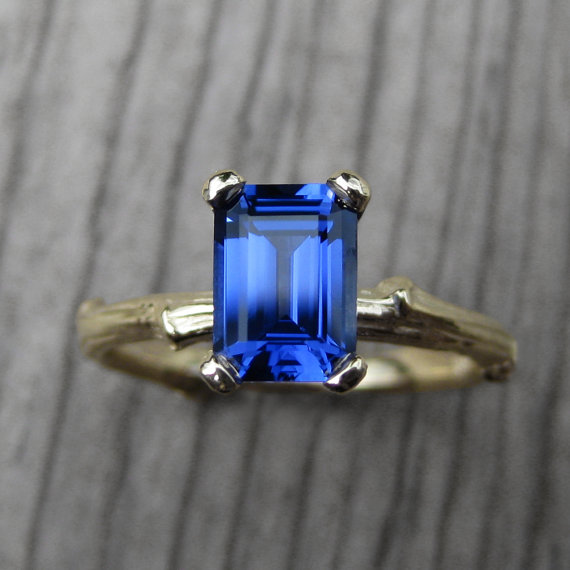 sapphire ring kristin coffin via 27 Amazing Anniversary Gifts by Year