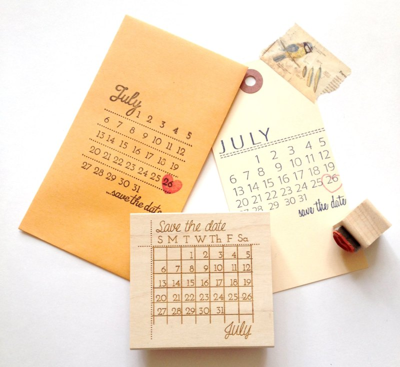 save the date stamp for DIY cards