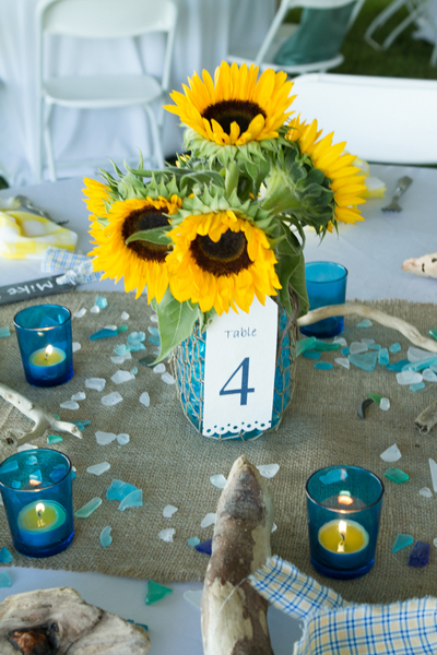 sea glass centerpiece idea