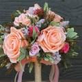 shabby chic wedding bouquet - 1