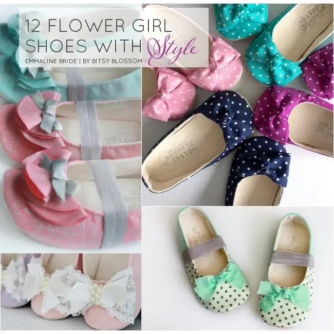 handmade flower girl shoes | http://emmalinebride.com/spring/handmade-flower-girl-shoes/
