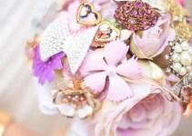 silk flower brooch bouquet