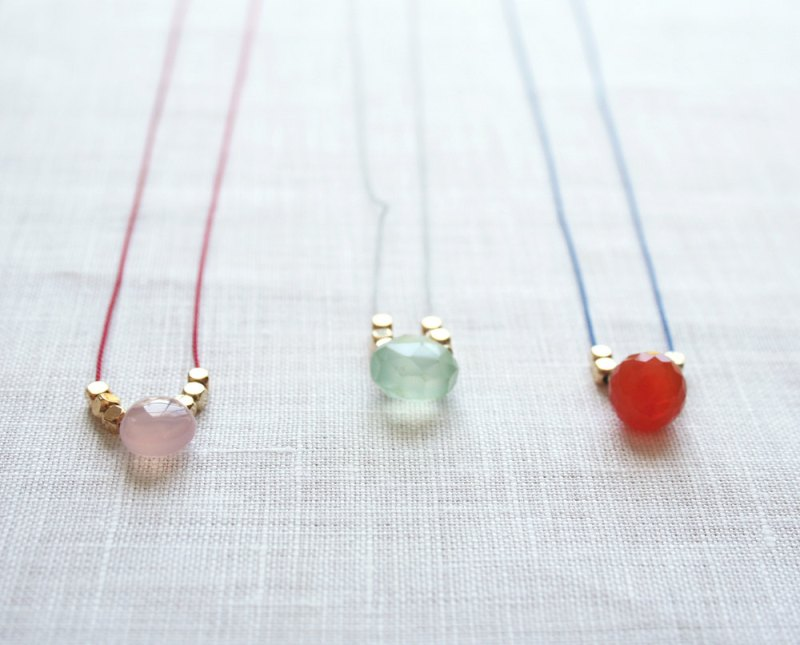 silk thread necklace via 5 under 25 jewelry gifts from laura stark