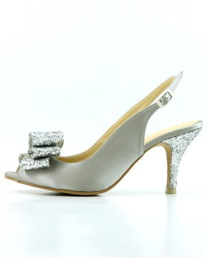 silver sparkly wedding shoes