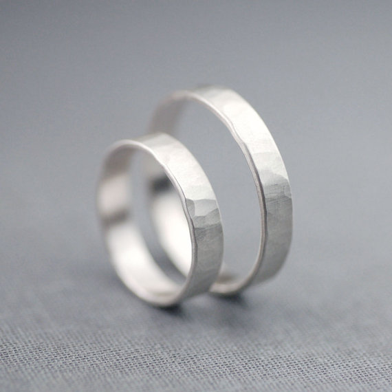 handcrafted jewelry (by lily emme jewelry) - silver wedding bands