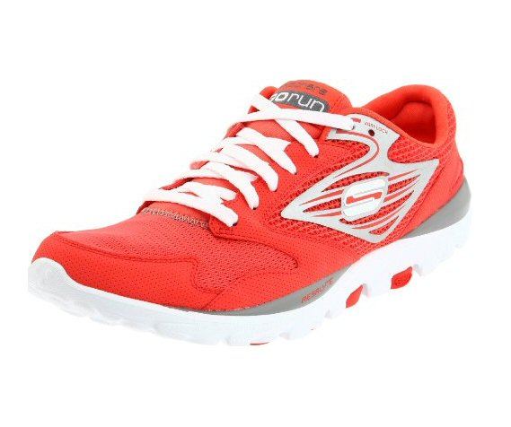 Top 20 Fitness Accessories (via EmmalineBride.com): #10 Skechers Go Run Sneakers in Coral