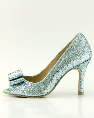 sparkly something blue heels