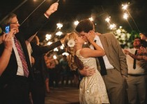 sparkler send off - wedding sparklers - image by michelle gardella