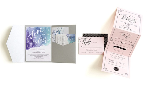 Watercolor Invitation - Wedding Stationery Trends 2014 via EmmalineBride.com