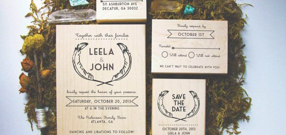 stamp your own wedding invitations