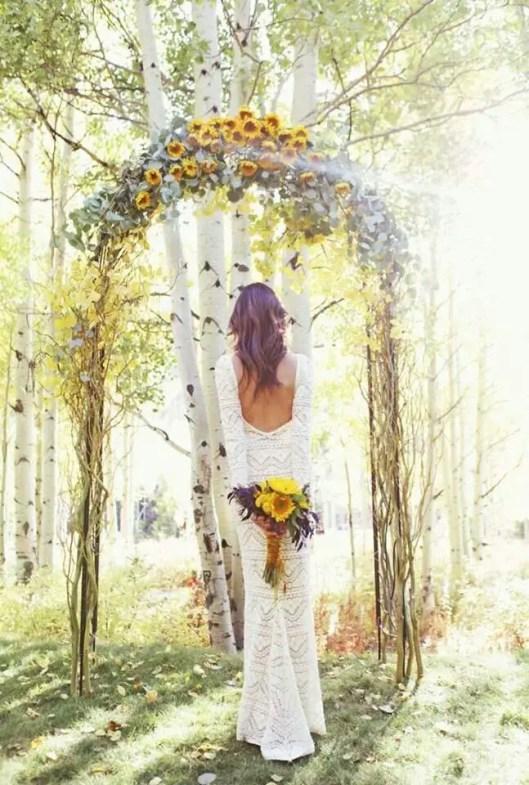sunflower ceremony arch
