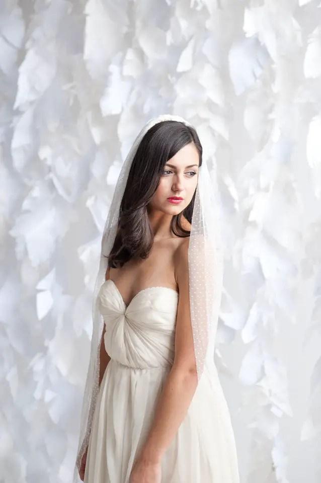 swiss dot polka dot wedding veil   via polka dot wedding ideas http://emmalinebride.com/themes/polka-dot-wedding-ideas-handmade/