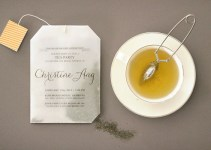 tea bag bridal shower invitation