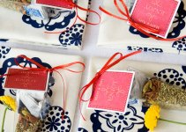 wedding tea favor bags