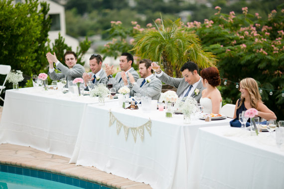 Burlap Wedding Banners - mr & mrs (photo: jen rodriguez)