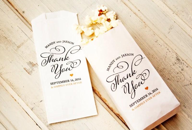 thank you popcorn favor weddings