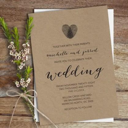 invitation - thumbprint wedding ideas | http://emmalinebride.com/gifts/thumbprint-wedding/