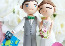 travel wedding cake topper